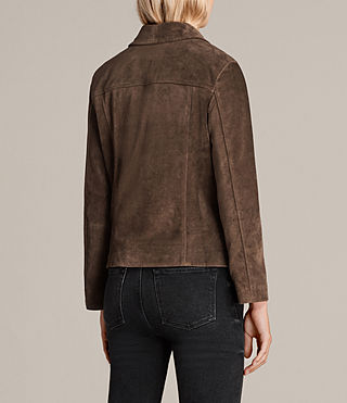 Damen Wildleder Deebee Blazer (Bitter Brown) - product_image_alt_text_9