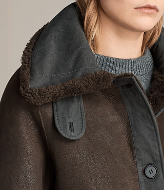 Women's Calder Shearling Jacket (Chocolate Brown) - product_image_alt_text_2