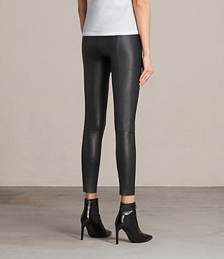 Womens Ava Leather Leggings (Black) - product_image_alt_text_4