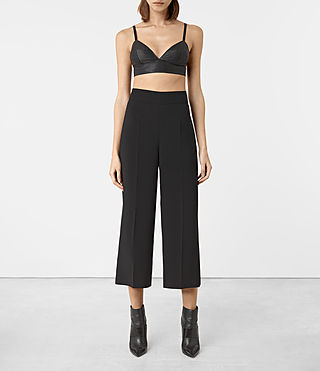 Damen Boswell Leather Bralet (Black)