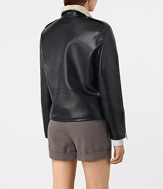 Mujer Mcguire Leather Biker Jacket (Black) - product_image_alt_text_5