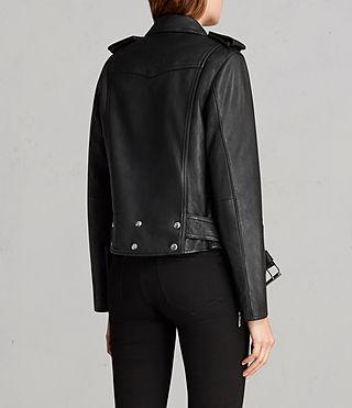 ALLSAINTS US: Womens Gidley Leather Biker Jacket (Black)