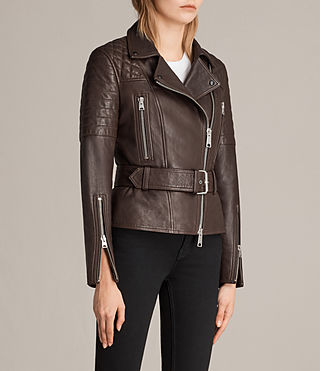 Womens Bryden Biker Jacket (OXBLOOD RED) - Image 4