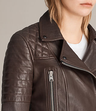 Womens Bryden Biker Jacket (OXBLOOD RED) - Image 5