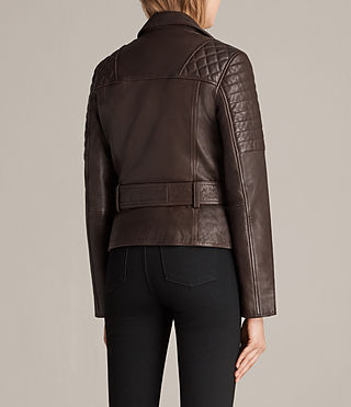 Womens Bryden Biker Jacket (OXBLOOD RED) - Image 6
