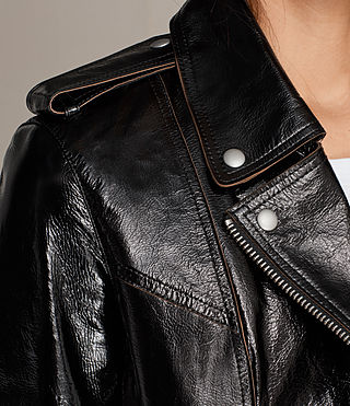 Damen Rigby Payton Leather Biker Jacket (Black) - product_image_alt_text_4