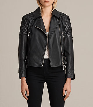 ainsdale leather biker jacket
