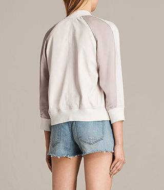 Womens 발리 보머 재킷 (WHITE/WASHED PINK) - product_image_alt_text_8