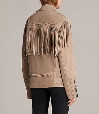 Womens Trevett Oversized Biker Jacket (Light Sand) - product_image_alt_text_6
