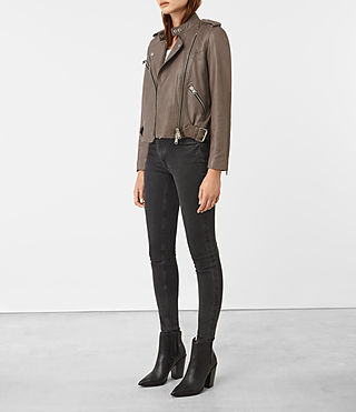 Damen Atkinson Biker (BATTLE BROWN) - product_image_alt_text_2