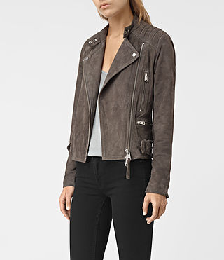 Damen Kerr Suede Biker (GRANITE GREY) - product_image_alt_text_3