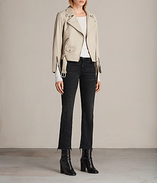 Donne Giacca biker Cole (SAND BROWN) - Image 3