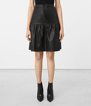 Damen Long Haslam Skirt (Black)