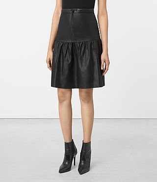 Mujer Long Haslam Skirt (Black) - product_image_alt_text_2