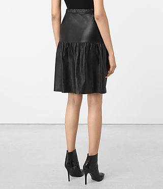 Mujer Long Haslam Skirt (Black) - product_image_alt_text_3