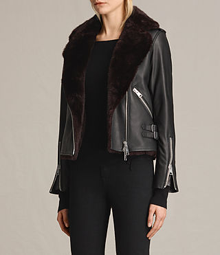 Damen Higgens Lux Biker (Black/Oxblood) - product_image_alt_text_4