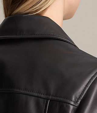 Donne Giacca biker in pelle Lowell (Black) - product_image_alt_text_6
