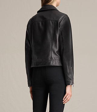 Donne Giacca biker in pelle Lowell (Black) - product_image_alt_text_7
