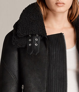Women's Howell Shearling (Black) - Image 2