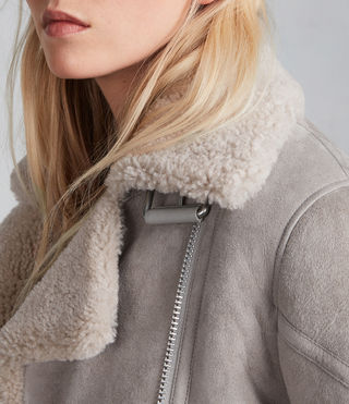 Donne Giacca Hawley Shearling Oversize (Pebble Grey) - Image 2