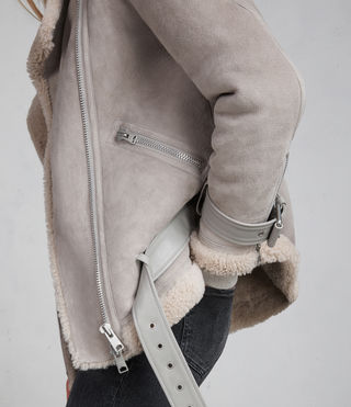 Donne Giacca Hawley Shearling Oversize (Pebble Grey) - Image 5