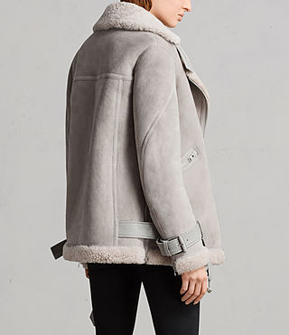 Donne Giacca Hawley Shearling Oversize (Pebble Grey) - Image 8