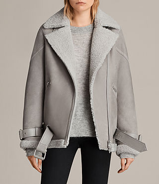giacca hawley shearling oversize