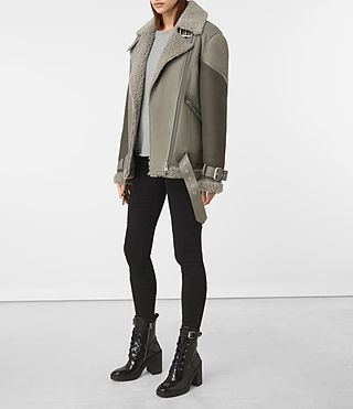 Mujer Hawley Oversized She (GREY/KHAKI GREEN) - product_image_alt_text_2