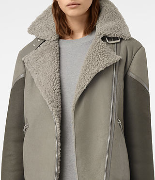 Mujer Hawley Oversized She (GREY/KHAKI GREEN) - product_image_alt_text_4