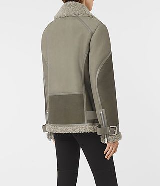 Femmes Hawley Oversized She (GREY/KHAKI GREEN) - product_image_alt_text_5