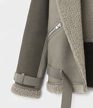 Femmes Hawley Oversized She (GREY/KHAKI GREEN) - product_image_alt_text_7