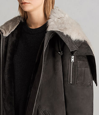Womens State Parka (MAGMA GREY) - Image 6