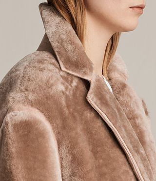 Women's Jale Shearling Coat (Pink) - product_image_alt_text_2