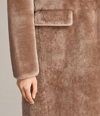 Women's Jale Shearling Coat (Pink) - product_image_alt_text_4
