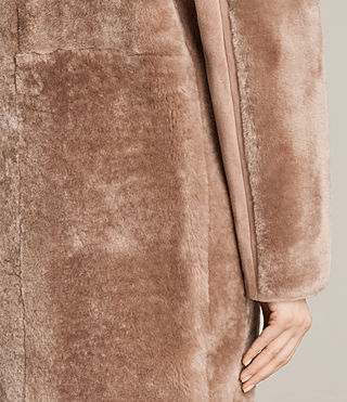 Women's Jale Shearling Coat (Pink) - product_image_alt_text_5