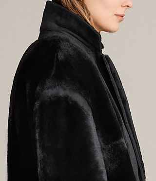 Donne Cappotto in shearling Jale (Black) - product_image_alt_text_2