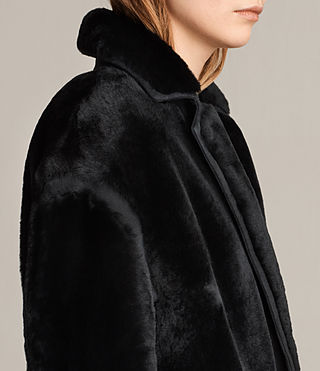Donne Cappotto in shearling Jale (Black) - product_image_alt_text_4