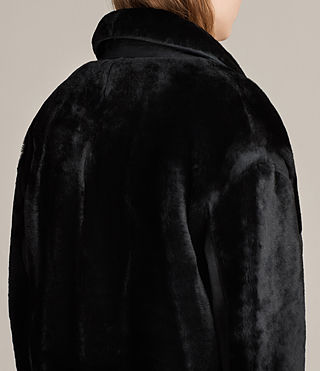 Donne Cappotto in shearling Jale (Black) - product_image_alt_text_5