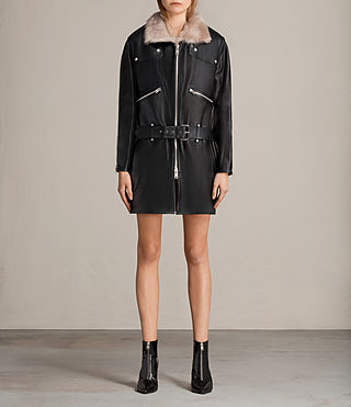 velo leather biker coat