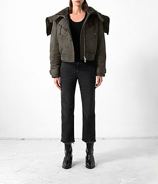 Damen Haze Bomber Jacket (Khaki Green)