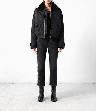 Women's Beat Bomber Jacket (Black) -