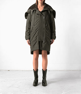 Damen Loop Parka (Khaki Green)