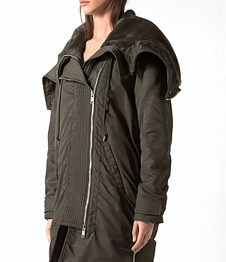 Damen Loop Parka (Khaki Green) - product_image_alt_text_2