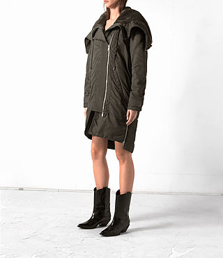 Damen Loop Parka (Khaki Green) - product_image_alt_text_3