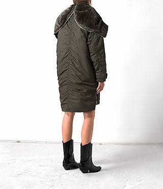 Damen Loop Parka (Khaki Green) - product_image_alt_text_5