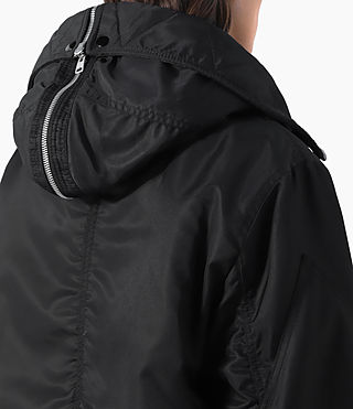 Donne Loop Parka (Black) - product_image_alt_text_4