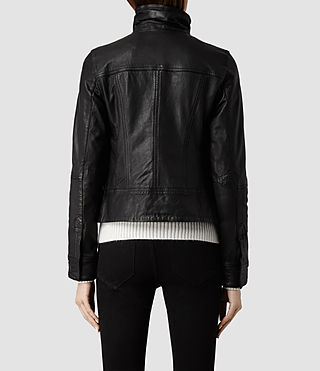 Womens Belvedere Leather Jacket (Black) - product_image_alt_text_3