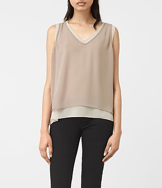Womens Twin Top (Taupe/Stone)