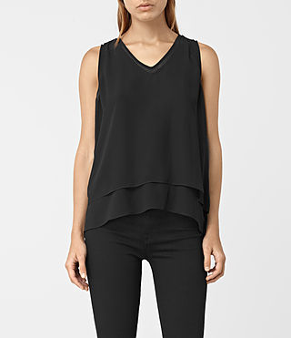 Damen Twin Top (Black/Black)