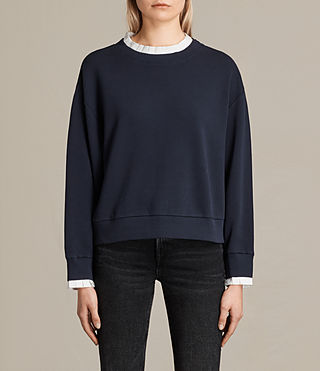 Womens Agata Sweatshirt (Ink Blue) - product_image_alt_text_1